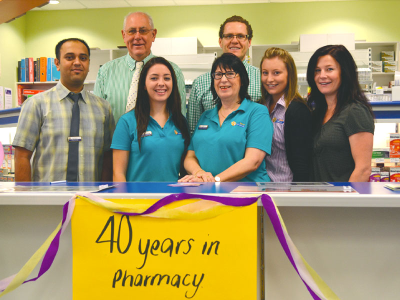 Julie Kinleyside celebrates 40 years at Harden Pharmacy