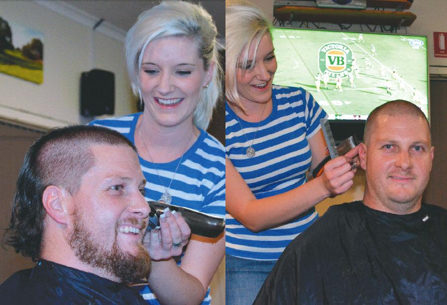 Steve Rowan shaves his head and beard for cancer
