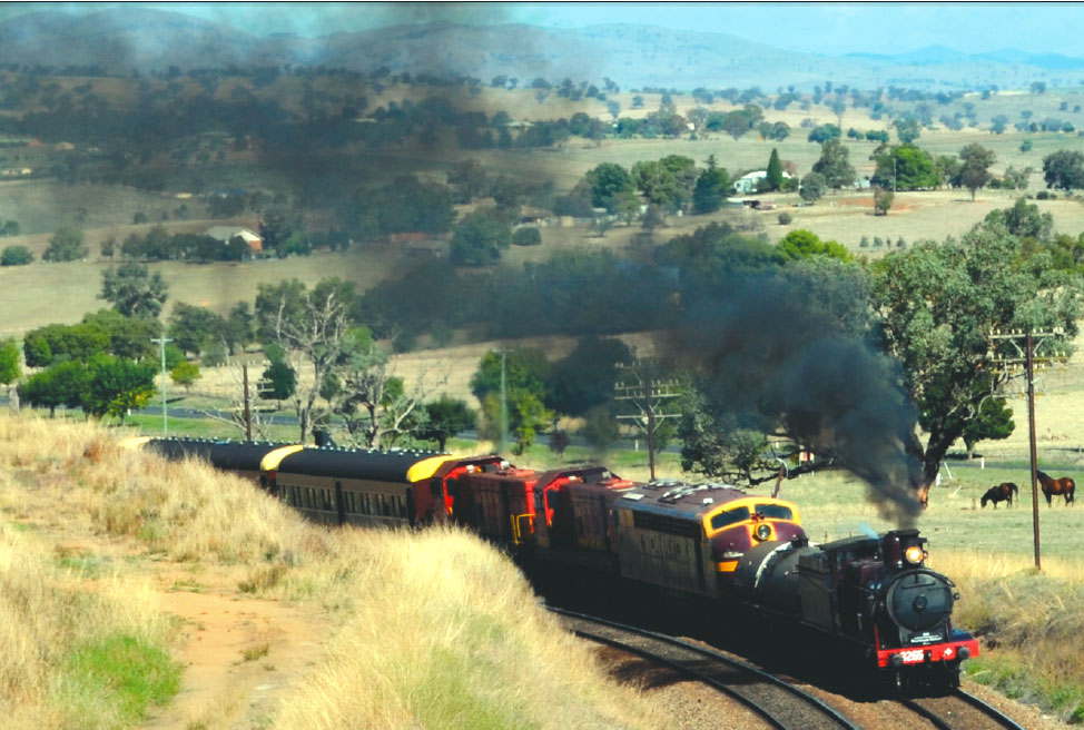 Locomotive 3265 comes to Harden