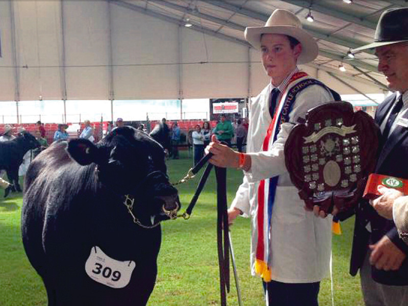 Toby Haydon wins Champion School Parader at The Sydney Royal Easter Show