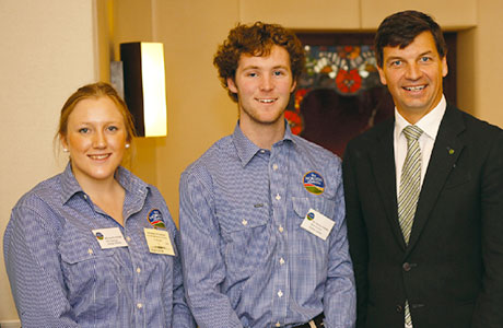 Claudia Raleigh, Finnlay Cowden with Member for Hume Angus Taylor