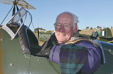 Mr Ashton-Martin in his Avro-Cadet